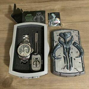 *VHTF* Star Wars Ltd Ed Bounty Hunter Boba Fett The Mandalorian Fossil Watch