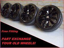 "1871 authentique 19"" vw lugano scirocco passat cc eos noir alloy wheels & tyres"