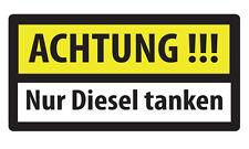 50x ACHTUNG NUR DIESEL TANKEN Aufkleber Tankdeckel Warnung Sticker PKW Auto