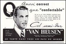 Publicité VAN HEUSEN col de chemise  Homme clothings men vintage ad 1936 -1i