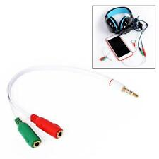 PC Headset To Smartphone Adapter Dual 3.5mm Male to Female Splitter Cable HOT