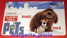 "WALMART US NEW 2016 GIFT CARD ""THE SECRET LIFE OF PETS"" Duke & Max NO VALUE"