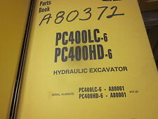 Komatsu PC400LC-6 PC400HD-6 Hydraulic Excavator Parts Book Manual