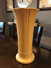"""Vintage Fiesta Fiestaware 12"""" Yellow Flower Vase"""