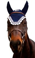 Equine Couture Fly Bonnet with Silver Lurex & Contrast Color