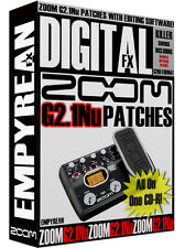 ZOOM G2.1Nu Patches Guitar Effects Pedal Tone Presets Amp Settings Win Mac