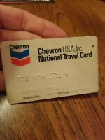 CHEVRON NATIONAL TRAVEL CARD , EXPIRED - VINTAGE COOL
