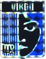 vtg prismatic sticker hippie novelty zodiac Virgo 70's van biker Blue