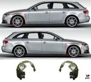 FOR AUDI A4 07-11 NEW FRONT WING ARCH LINER MUD SPLASH GUARD COMPLETE PAIR SET
