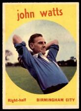 A&BC Footballers 1960 Black Back (B1) John Watts Birmingham City No. 32