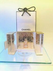 Chanel Perfume Coco Mademoiselle Showcase 1.5ml mini +2 gold charms Gift Bag