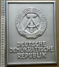 East German Border Sign Marker DDR Plaque NVA Berlin Wall  - repro -