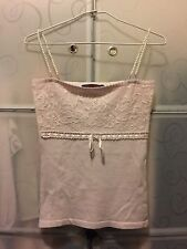 Purple Lilac Beaded Knit Singlet Top Size 8