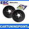 EBC Discos de freno eje trasero negro Dash Para VW CADDY 3 2kb usr1284