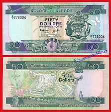 SALOMON SOLOMON ISLANDS 50 Dollars dolares 1986 Pick 17 SC / UNC