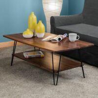 4x Hairpin Legs Furniture Table Bench Desk Steel Metal 12''/30cm 2 Pin BLACK