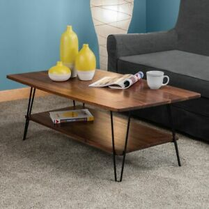 4x Hairpin Legs Furniture Table Bench Desk Steel Metal Pin 8''/20cm 2 Pin BLACK