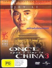 ONCE upon a time in CHINA 3 (Jet LI) Hong Kong ACTION Film DVD NEW SEALED Reg 4