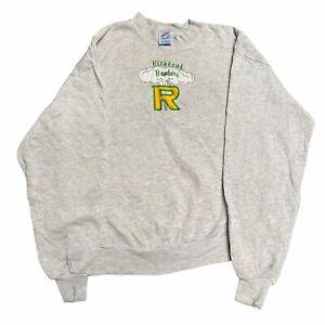 Richland Bombers Unisex Vintage Sweater Sweatshirt Grey Size Large L