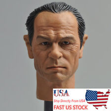 "USA Sell Headplay 1:6 Male Man Tommy Lee Jones Head Sculpt Model F 12"" Figure"
