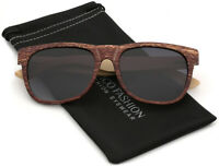 Polarized Bamboo Wood Sunglasses Retro Classic Vintage Wooden Arms Mens Womens