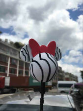 Cute White Mickey Minnie Antenna Ball Car Aerial Ball Antenna Topper Decor Ball