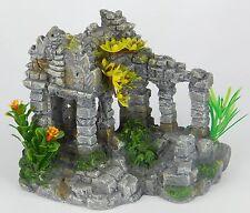 Preah Khan Cambodian grey ruin replica aquarium resin ornament.