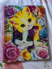 LISA FRANK Glitter Wide Rule Spiral Notebook Folder Playtime Kittens NEW