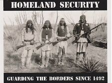 "+PC-Postcard-""Homeland Security"" /Guarding The Borders Since 1492/  (B343)"