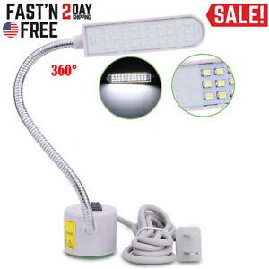 30 LED Sewing Machine Light US PLUG Gooseneck Working Lamp With Magnetic Base US