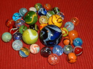 1532 Vacor MEGA MARBLE Pee Wee Lot Boxed Set 15 Collector Quality Marbles