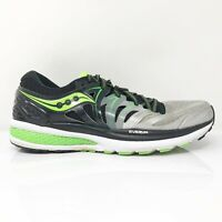 Saucony Mens Hurricane ISO 2 S20293-1 Black Green Running Shoes Lace Up Size 10