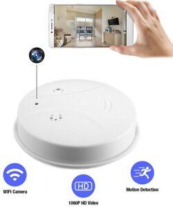 Wireless Wifi Spy Nanny Cam Mini security covert hidden Camera smoke detector