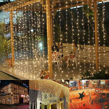 300 LED String Fairy Light Warm White Remote Xmas Garden Curtain Christmas Party