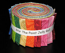 """Stir the Paint Rainbow Jelly Roll ~ 16 Cotton Fabric Strips ~ 2.5"""" Wide X 44"""""""