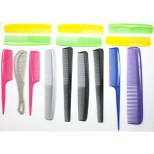 15 Pc Pro Salon Hair Styling Hairdressing Plastic Barbers Brush Pocket Combs Set