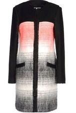 $1K NWT ADIDAS SLVR Silver Label Fashion Luxe Wool Mohair Long COAT Black Multi