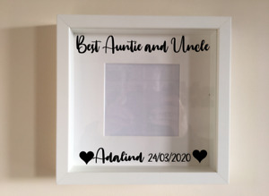 Box Frame Vinyl Decal Sticker Wall art Quote Best Auntie and Uncle Personalised