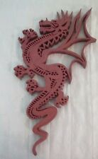 Dragon Laser Cut Wooden Wall Art.