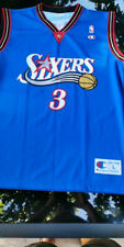 Allen Iverson 3 Philadelphia Sixers 76ers NBA basketball jersey Champion size L