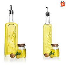 Olivenölflasche Essigflasche Ölflasche Ölspender 1L 0,5L Glas Essigspender NEU