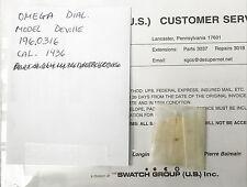 OMEGA DIAL DEVILLE MODEL 196.0316 FIT FOR CAL 1436
