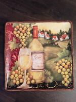"Certified International Merlot Sunset 14 1/4"" sq serving platter by Susan Winget"