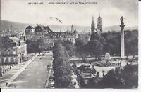 853 Stuttgart Schlossplatz mit altem Schloss 1910 Ansichtskarte Baden Württember