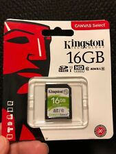 Kingston, Canvas Select, 16GB SDHC Class 10 SD Memory Card 80MB/s