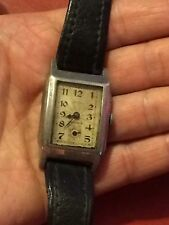 ROTARY SWISS Tank Style  Vintage 1930s ART DECO Mens Watch Working Retro Antique