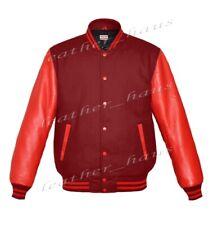 Original American Style Genuine Leather Varsity Letterman College Men Jackets S
