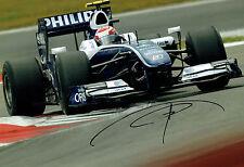 Kazuki NAKAJIMA Signed 12x8 Williams F1 Photo Autograph AFTAL COA