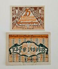 SONNEBERG NOTGELD 25, 50 PFENNIG 1921 NOTGELDSCHEINE (11678)