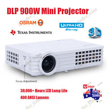 HTP ANDROID 6000 LUMEN DLP PROJECTOR HOME THEATER OFFICE MEETING 3D PROFESSIONAL